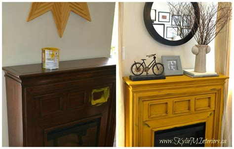 yellow fireplace painted furniture ideas van gogh chalk paint yellow