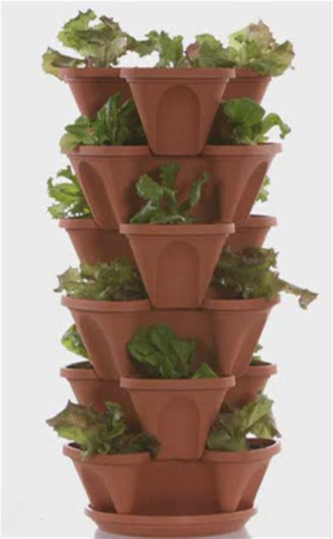 Stackable Planters by Grow Tower Stackable Pots Growin Acres
