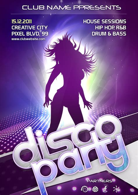 design flyer with photoshop night club flyer psd template free psd files