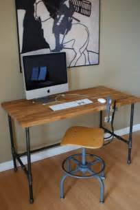 Diy Pipe Desk 28 Stylish Industrial Desks For Your Office Interior Decorating And Home Design Ideas
