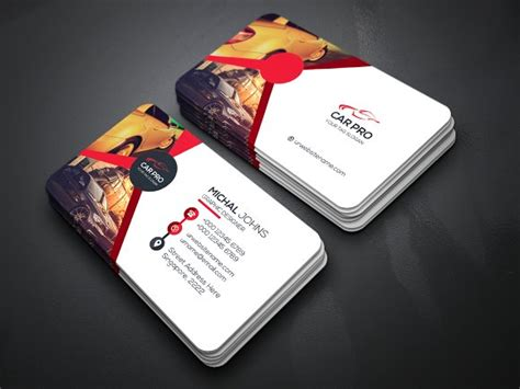 car radar business card template car business card business card templates creative market