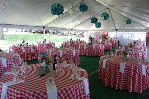 upscale picnic wedding reception reception