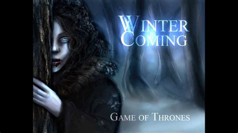 Tshirt Winter Is Coming Vi winter is here of thrones soundtrack three blasts