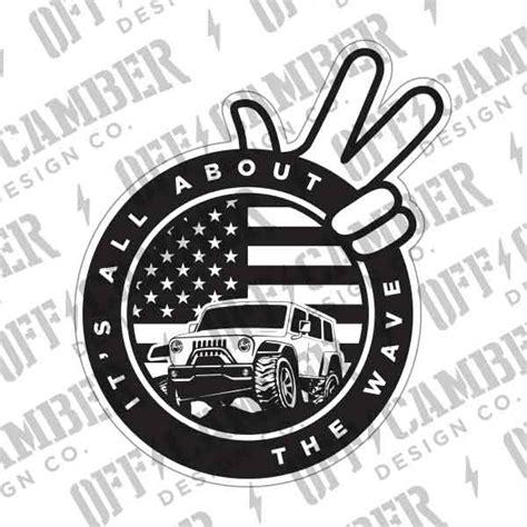 jeep wave sticker jeep wave decal alphavinyl