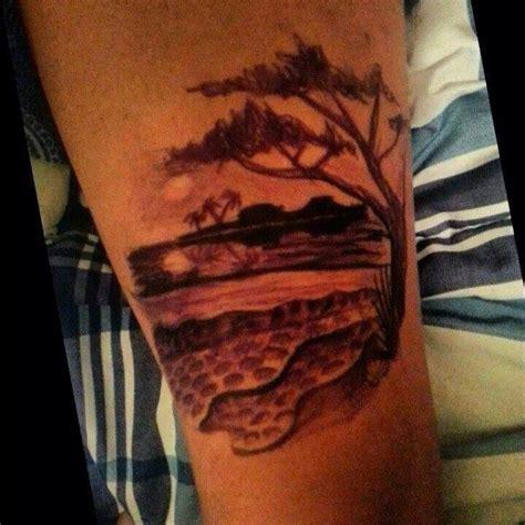 tree beach landscape tattoo tattoos pinterest alberi