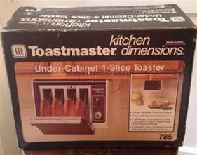 Toastmaster Kitchen Dimensions Toaster vtg excellent toastmaster cabinet 4 slice toaster 785 kitchen dimensions what s it worth