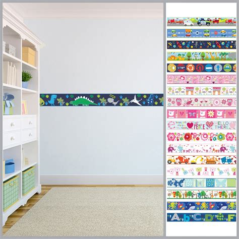 Wallpaper Borders Children S Kids Nursery Boys Girls Bedroom Wall Self Adhesive Ebay