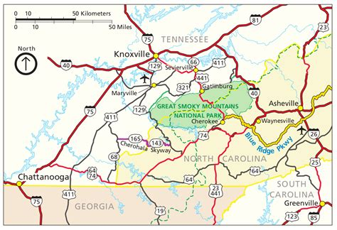 great smoky mountains national park map smoky mountain national park map my