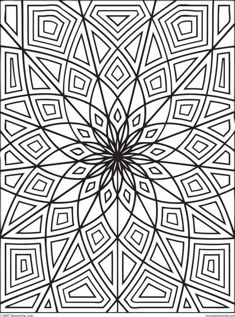 detailed geometric coloring pages to print 24 free printable geometric coloring pages gianfreda net