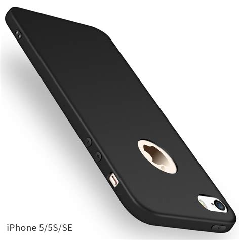 Soft Glossy Type Iphone 5 for apple iphone 5 5s se ultra slim shockproof soft rubber