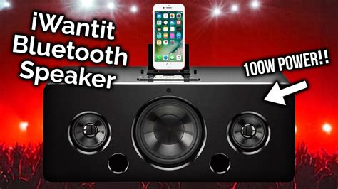 iwantit speaker test want bass iwantit ibtlia14 100w bluetooth speaker review sound test