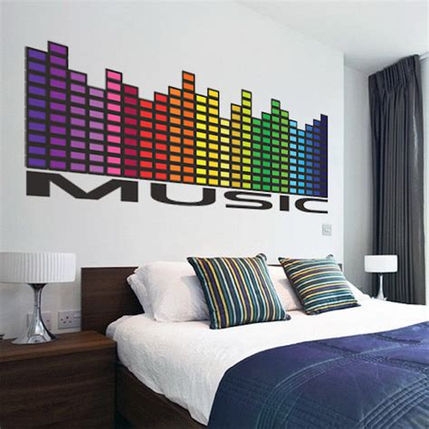 wall ls for bedrooms music wall decal music bedroom sticker music decals