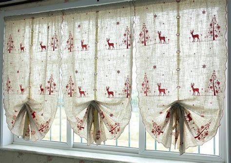 tende natale kitchen curtains