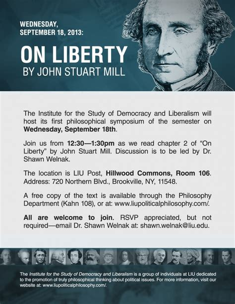 On Liberty By Stuart Mill Essay by Stuart Mill On Liberty Institute For The Study Of Democracy And Liberalisminstitute For
