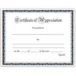 Certificate Of Appreciation Template Word by Free Appreciation Certificates Word And