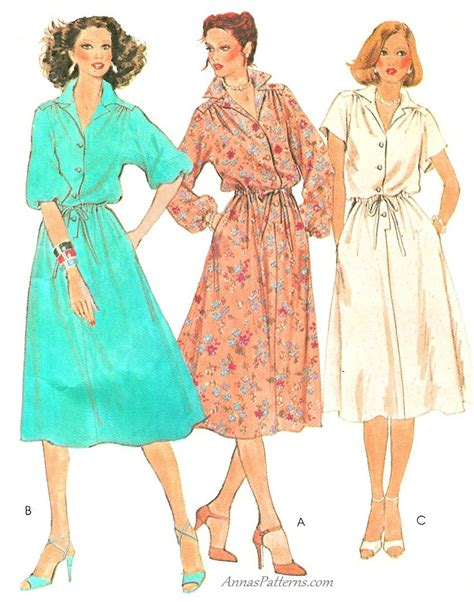 kimono dress pattern uk shirt dress sewing pattern 12 easy kimono sleeves vintage