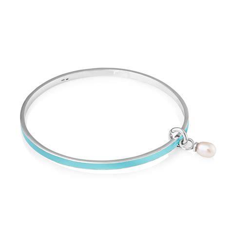 viva bracelets viva pearl bangle on enamel and sterling silver