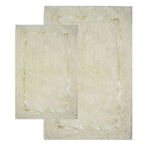 2 piece bathroom rug set 2 piece greenville bath rug set in vanilla uvcm35202