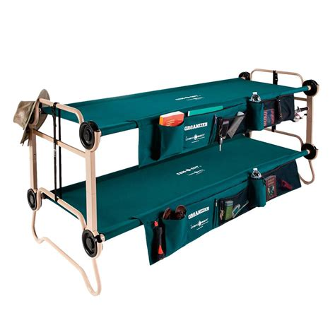 disc o bed disc o bed cam o bunk xl portable bunk bed with organizers 283229 cots at sportsman