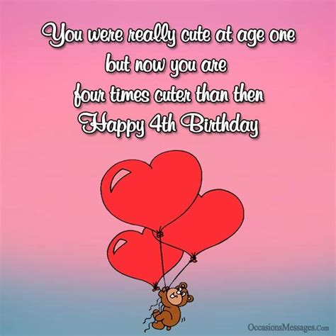 Happy 4th Birthday Wishes To My 4th Birthday Wishes And Greetings Occasions Messages