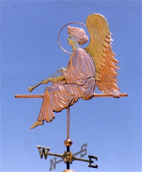 Handmade Weathervanes - weathervane in repose handmade of copper