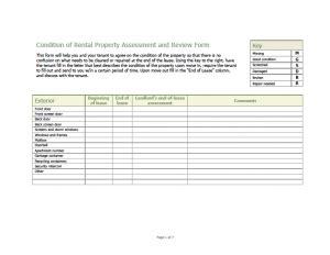 Free Rental Walk Through Form Simple Landlord Walk Through Checklist Template