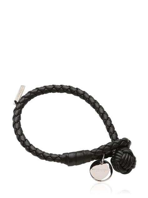 Bottega Veneta Bracelet bottega veneta intrecciato leather bracelet in black lyst
