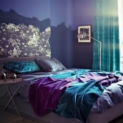 Turquoise purple bedroom color scheme