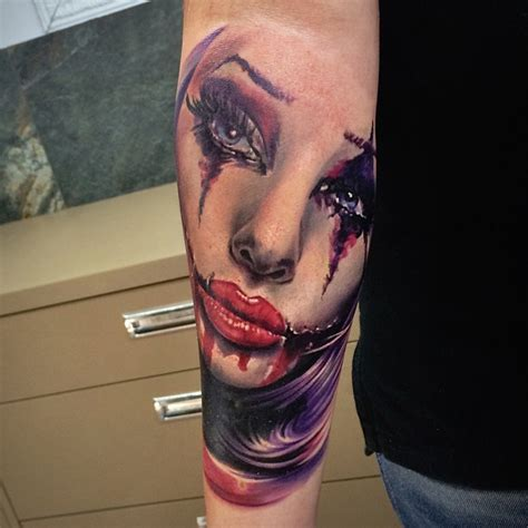 Girl Joker Tattoo Designs | joker girl best tattoo design ideas