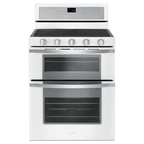Discount Faucets Kitchen Whirlpool 6 0 Cu Ft Double Oven Gas Range With Center