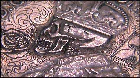 youtube memento pattern tattoo design coin memento mori penny skull scrollwork