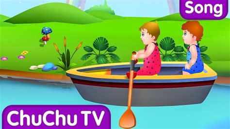 row row row your boat nursery rhyme with lyrics lullaby - Row Row Row Your Boat Lyrics Chu Chu Tv