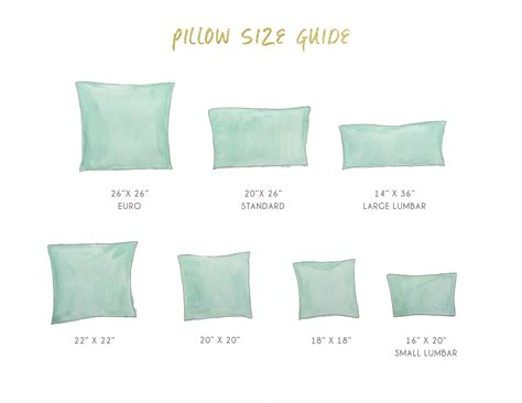Size Pillows by Pillow Sizes Search Pillow Jardin