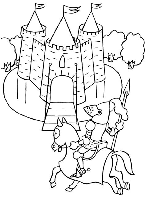 knights coloring pages coloringpages1001 com