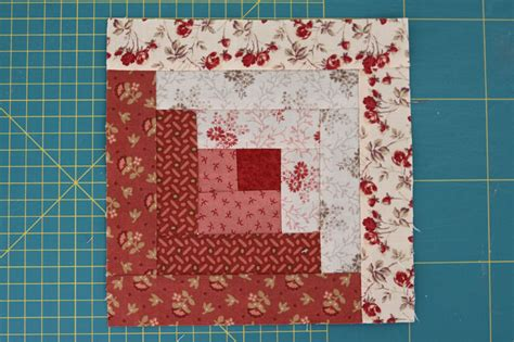 patchwork log cabin log cabin block
