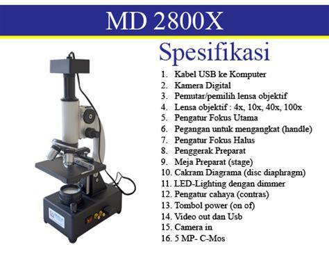Mikroskop Edukasi Pembesaran 1200x mikroskop digital multimedia murah dan terjangkau md 2800x