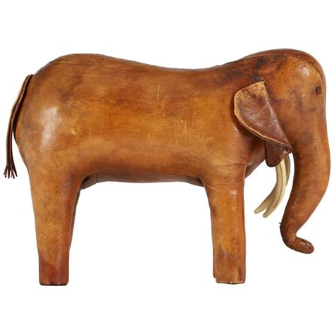 Elephant Ottoman Large Elephant Footstool By Dimitri Omersa For Abercrombie And Fitch 1960s At 1stdibs