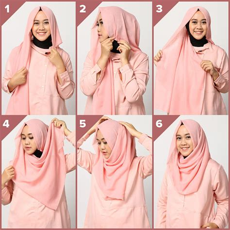 tutorial hijab simple buat kerja tutorial hijab segiempat simple dan trendy muslimarket blog