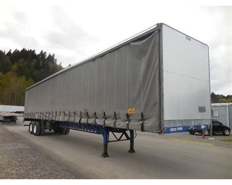 flatbed curtain side trailers 2003 manac 53 curtain van flatbed curtain side trailer