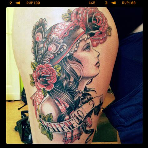 tattoo gypsy girl gypsy girl tattoo by mojoncio on deviantart