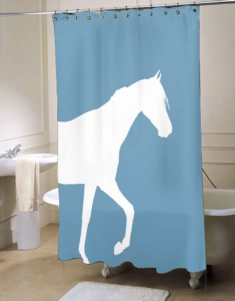 horse shower curtains sale horse shower curtain bath curtain myshowercurtains