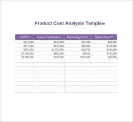 cost price analysis template sle cost analysis 8 documents in pdf word excel