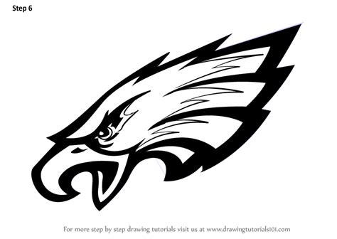 nfl eagles coloring pages learn how to draw philadelphia eagles logo nfl step by