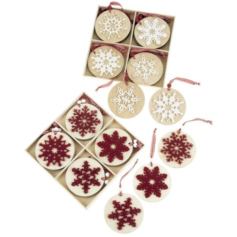 nordic decoration lots box sets nordic wooden christmas decorations shabby vtg chic tree hanging ebay