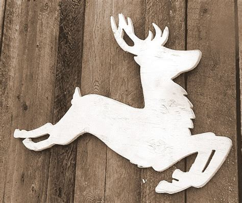 white wooden reindeer 28 images white led wooden house