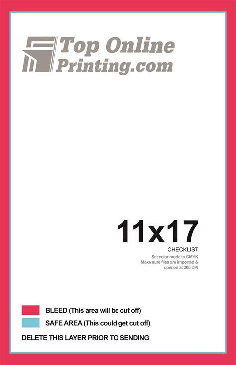 11x17 Bi Fold Brochure Printing 11x17 Booklet Template