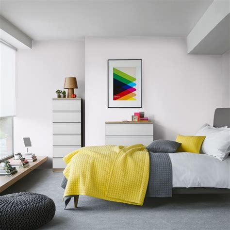 bedroom design john lewis 心地良い上質空間を演出 グレー 215 イエロー インテリア実例