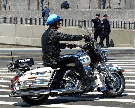 NYPD Harley Davidson Motorbike Police Officer, Bronx, New