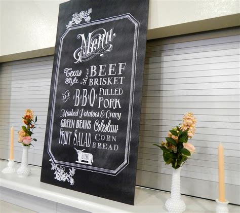 Chalkboard Wedding Menu Free Template Mrs Fancee Chalkboard Menu Template Free