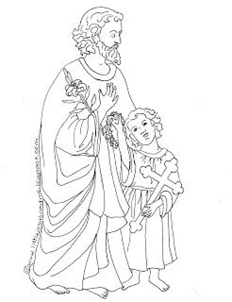 coloring pages of joseph the carpenter st maria goretti sketch coloring page